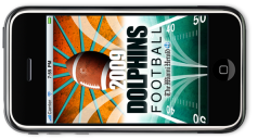 2009 Dolphins Football, iPhone app from the Miami Herald